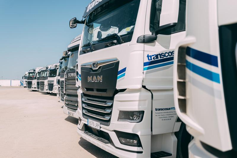 nueva flota de camiones de transporte